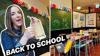 JAPANESE SCHOOL IZAKAYA in TOKYO &  A CUTE CAT TEMPLE