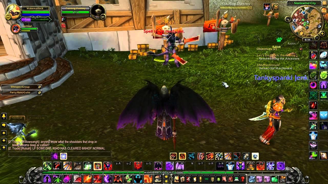 World of Warcraft Warlock Metamorphosis and Dark Apotheosis - YouTube