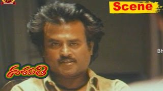 Rajinikanth Gets Angry On Shobana | Dalapathi Telugu Movie Scenes |