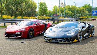 Forza Horizon 4 Drag race: Lamborghini Centenario vs Lykan Hypersport