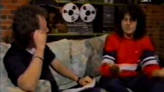 Deep Purple's Ian Gillan being interviewed by Mick Wall in late 1986