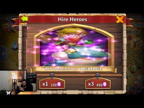 JT'S Main Rolling Professor Ribbit LUCKY Session LETS GO Castle Clash
