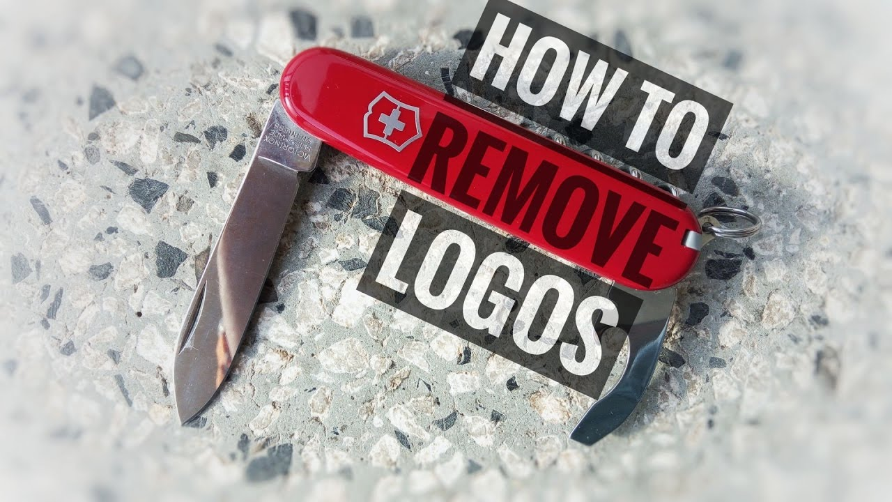 How To Remove Corporate Logos From Swiss Army Knife Youtube