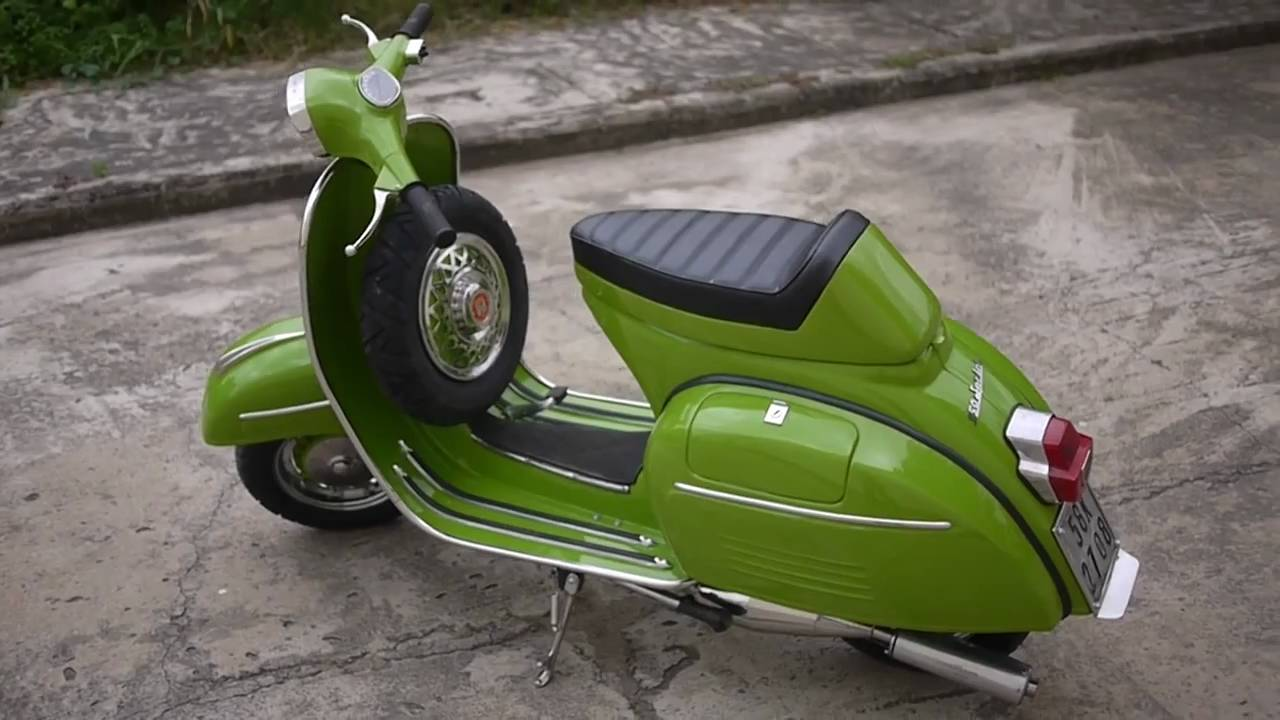scootrs vespa vlb sprint custom race scooter restoration youtube. Black Bedroom Furniture Sets. Home Design Ideas