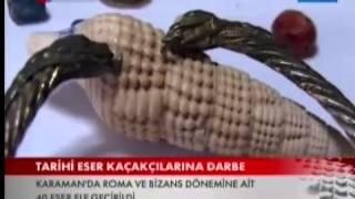 Karaman'da tarihi eser kaçakçılarına darbe