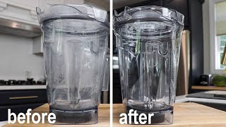 Clean Cloudy Vitamix Containers: Easy how to!