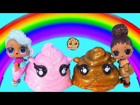 Rainbow Drops Slime Rain ! LOL Surprise Dolls Find Mystery Blind Bags