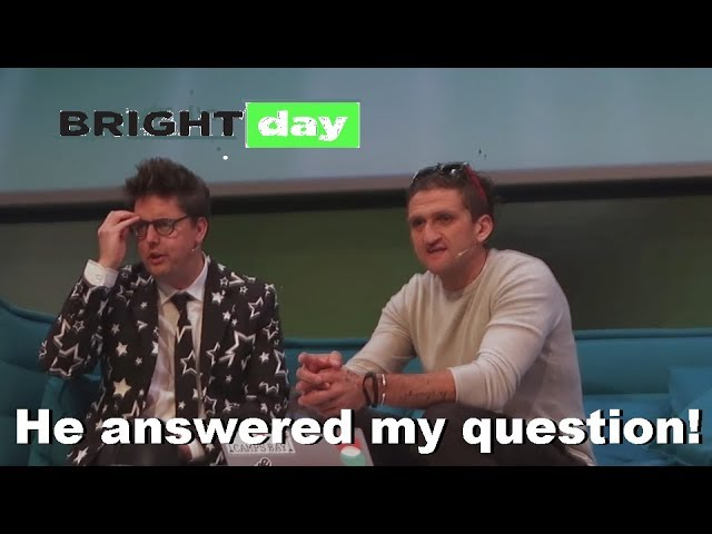 Talking with Casey Neistat at Brightday Utrecht 2017!