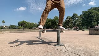 Practicing FRONTSIDE LIPSLIDES