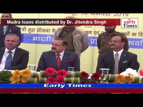 Mudra loans distributed by Dr  Jitendra Singh