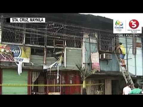 Paupahang bahay na sanhi ng sunog sa Sta. Cruz, Manila, sinadyang sunugin?
