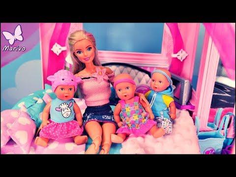 Rodzinka Barbie 👶 Dzieci rozrabiają w Dreamhouse!!! 👶 Barbie bajka po polsku z lalkami 👶