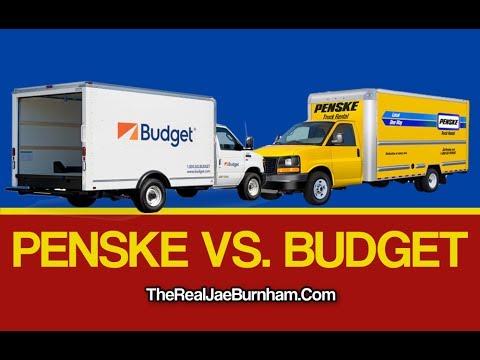 Renting Penske Vs Budget Rental trucks For Moving