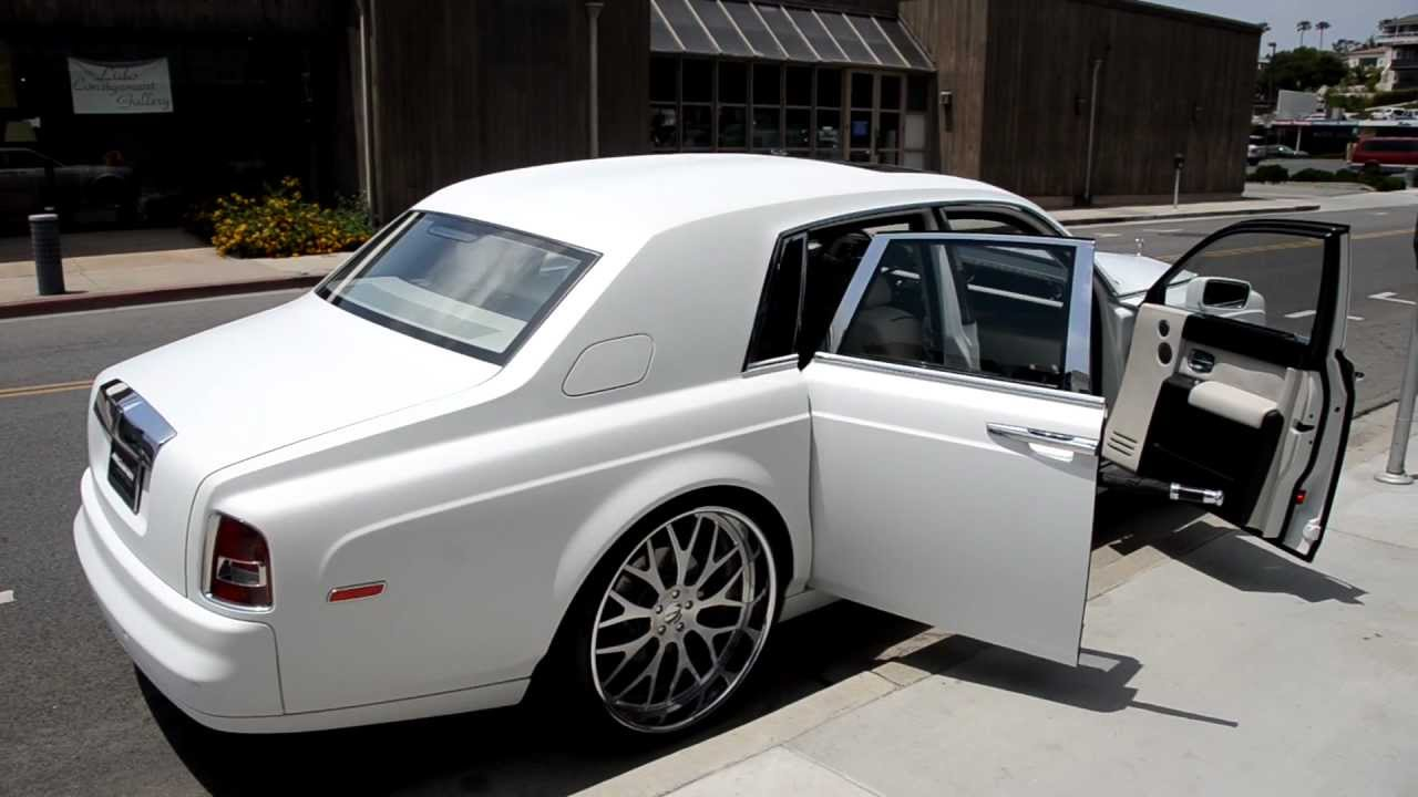 2007 Matte White Rolls Royce Phantom On 26 Quot Gfg Wheels