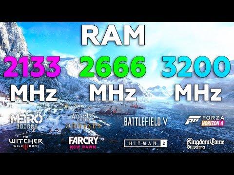2133MHz Vs 2666MHz Vs 3200MHz RAM Test In 8 Games