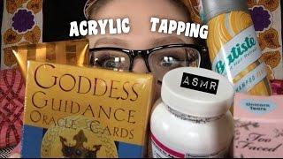 ASMR ACRYLIC NAILS ON VARIOUS OBJECTS