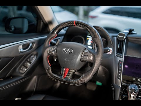 How to Install A Carbon Fiber Steering wheel | 2014-2016 Infiniti Q50
