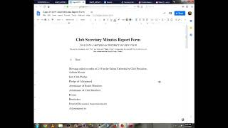 "MDKCI District Secretary ""How-To's"": Episode 4: Meeting Minutes & MUC w/ Preston"