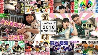 2018NyoNyoTV10大熱門影片回顧,這些影片大家都看過了嗎?[NyoNyoTV妞妞TV玩具]