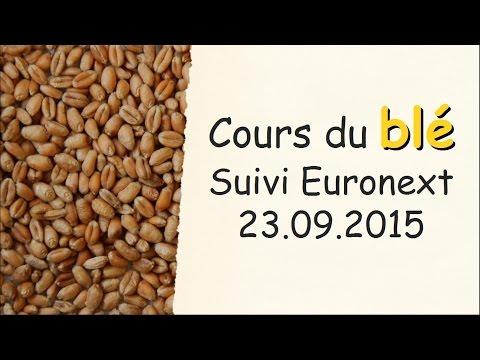 Suivi cours du ble   euronext 23 09 2015