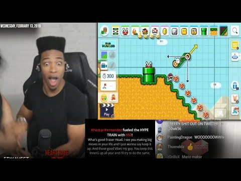 ETIKA REACTS TO SUPER MARIO MAKER 2 FT COBI