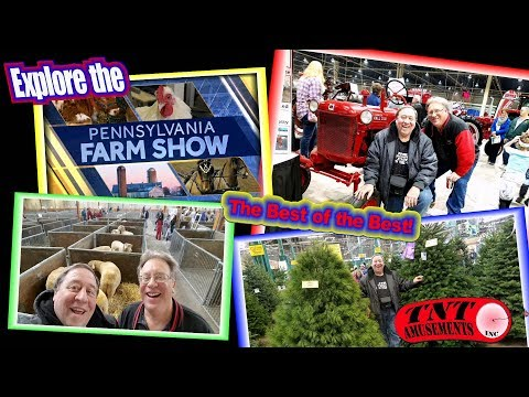 #1333 The PENNSYLVANIA FARM SHOW 2017 and our Adventures! TNT Amusements
