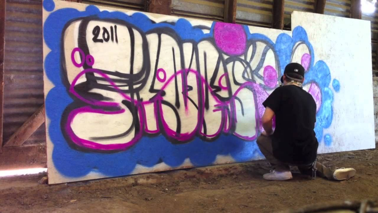 How To Do A Simple Graffiti Burner Youtube