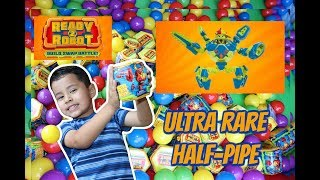 READY 2 ROBOT LIGHT UP HALF-PIPE ULTRA RARE FOUND! READY 2 ROBOT BALL PIT, TOY UNBOXING, GIVEAWAY