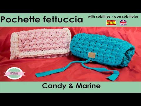 TUTORIAL CROCHET | with sub | Pochette Candy & Marine | Punto econocciolino