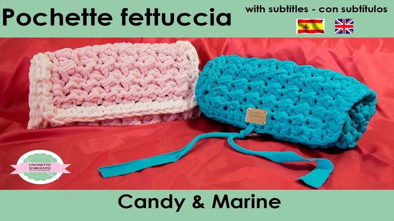 Tutorial Crochet With Sub Pochette Candy Marine Punto