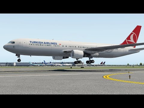 Panic During Heavy Storm - Turkish Airlines Emergency Landing To Florida Airport | X-Plane 11