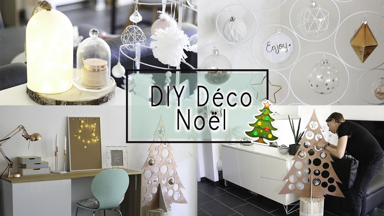 Diy l id es d corations de no l faire soi m me youtube for Youtube decoration de noel