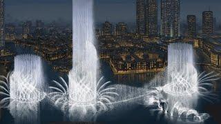 Поющие фонтаны Дубая. Dubai #1(Видео снял в одном из кафе Дубай молла. Ссылка на данное видео https://youtu.be/rj8zUnwX628 Я в VK https://vk.com/oleg_esyunin., 2016-10-27T13:19:43.000Z)