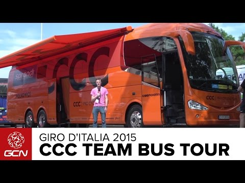 CCC Pro Cycling Team Bus Tour | Giro D'Italia 2015