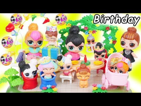 LOL Surprise Dolls + Lil Sisters Spice's Birthday Party