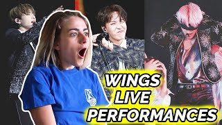 WE'RE GOING TO THE WINGS TOUR ✰ ALL BTS Wings Solo Live Reaction! ✰ w/ BenQ GV1 portable projector!