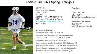 Andrew Finn 2022 Midfielder (L) Rockhurst HS
