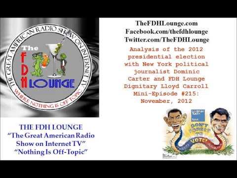 Mini-Episode #215 - November 2012 - 2012 presidential election analysis