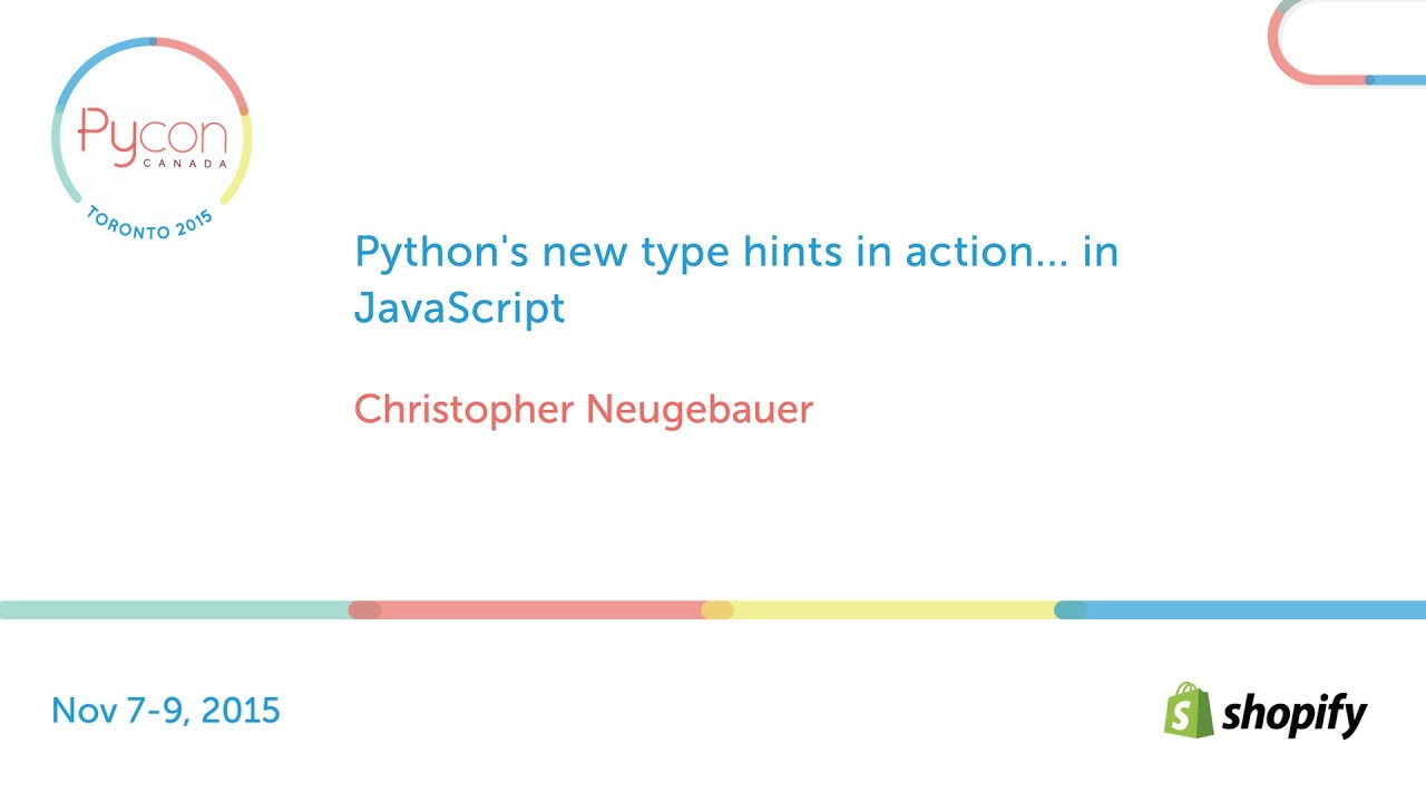 Image from Python's new type hints in action... in JavaScript