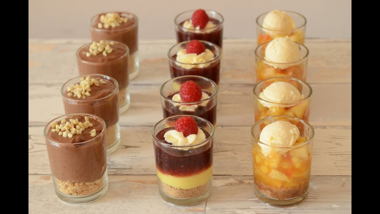 dessert im glas nutella pudding lemon curd mit himbeere und apfel spekulatius youtube. Black Bedroom Furniture Sets. Home Design Ideas