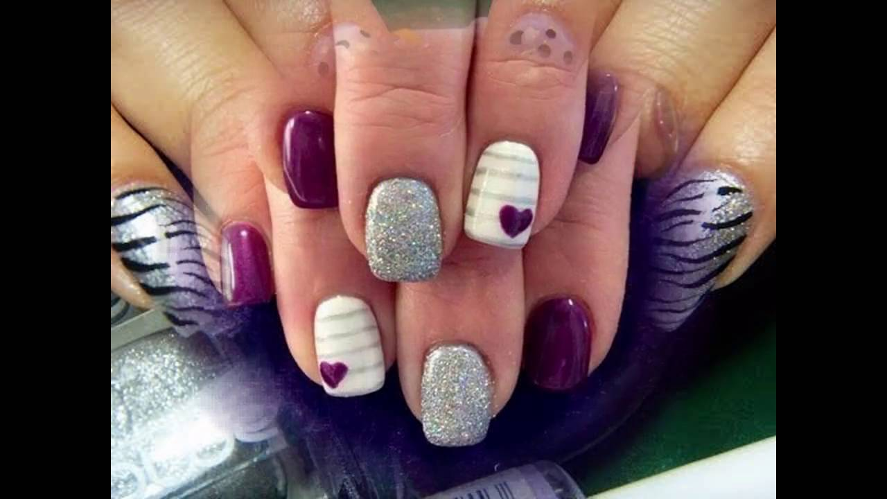 Dise os de u as decoradas con esmalte sencillas youtube - Unas decoradas con esmalte ...