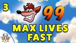 Crash Bandicoot 3 Warped - How to Quickly Get 99 Lives (A Stitch in Time Saves 99 Trophy)