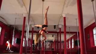 Видеоуроки Школы pole dance Exotic Dance. Урок 5:  Брасманки (Brass Monkey)