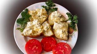 МОЛОДАЯ КАРТОШКА в духовке с соусом Рецепт для ленивых чистить не надо Вкуснятка на обед