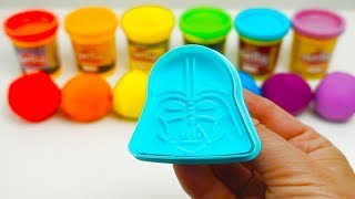 Learn Colors with Play Doh Balls and Star Wars Molds Surprise Toys