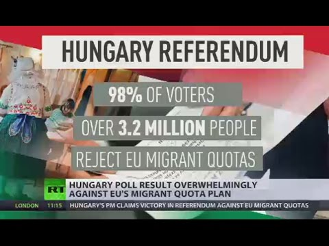 Hungary Referendum: 98% of voters reject EU refugee quotas, but low turnout makes it invalid