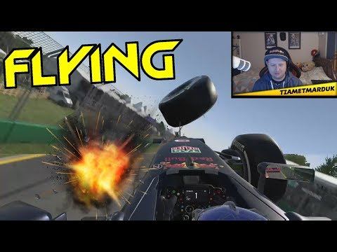 FLYING F1 CARS - Racing Game Crashes & Fails