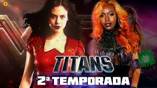Titans 2ª Temporada VAZOU Visual Donna Troy e Estelar