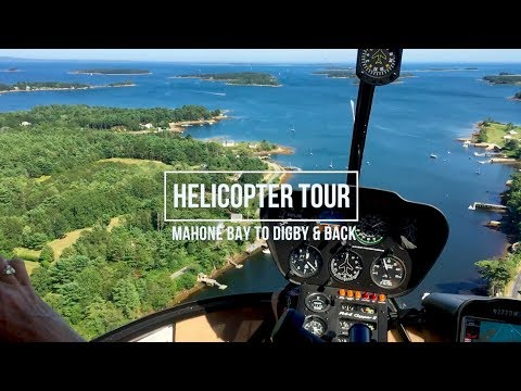 Helicopter Tour: Mahone Bay to Digby & Back