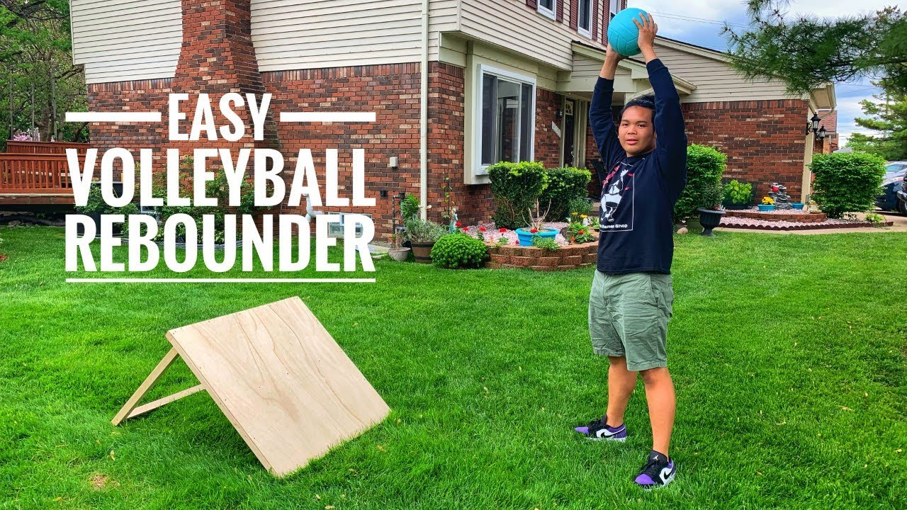Diy Volleyball Rebounder Youtube